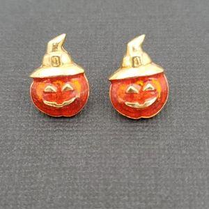 Avon Halloween Pumpkin Earrings